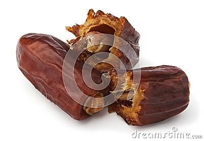 Cut dry dates