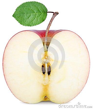 Free Cut Half An Apple Royalty Free Stock Photos - 40363058