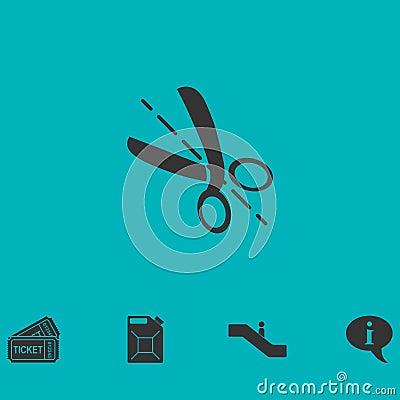 Free Cut Icon Flat Stock Photos - 137973553