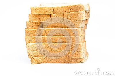The cut loaf of bread Stock Photo