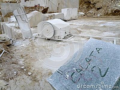 Cut marble