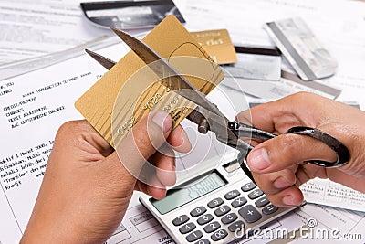 Cut my credit cards