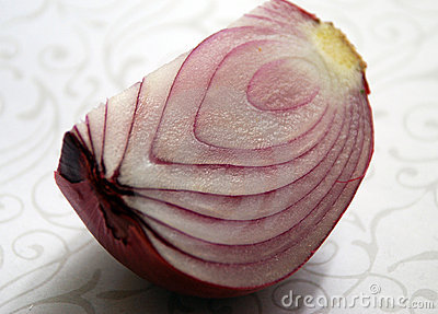 Cut onion-macro