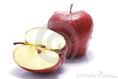 A Cut Open Apple