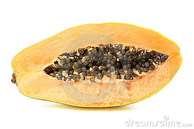 cut open papaya