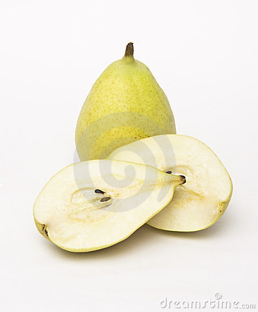 Cut Open Pear