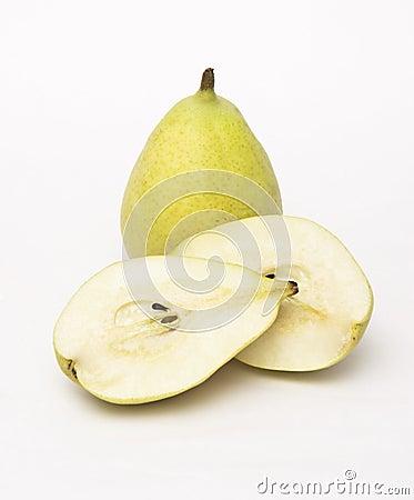 Cut Open Pear