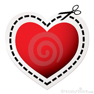 Free Cut Out Heart Red Stock Photography - 16892392