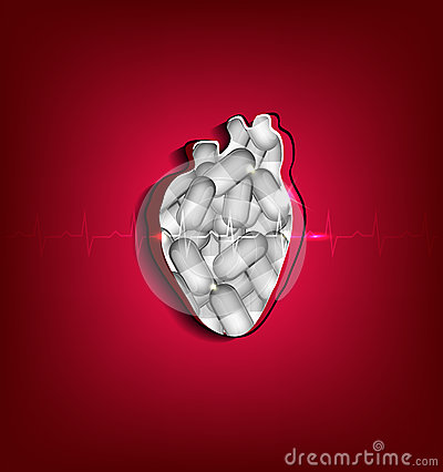 Cut out human heart