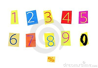 Cut out numbers