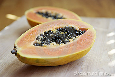 Cut Papaya Royalty Free Stock Image - Image: 14372806