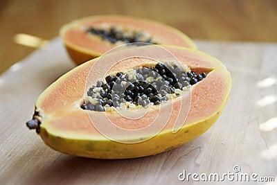 Cut Papaya
