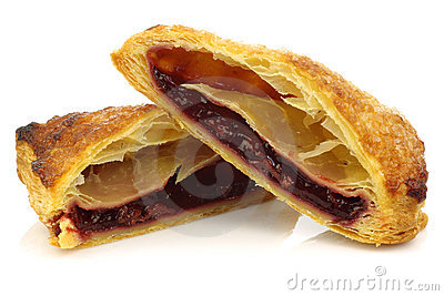 cut pieces of traditional filled dutch pastry