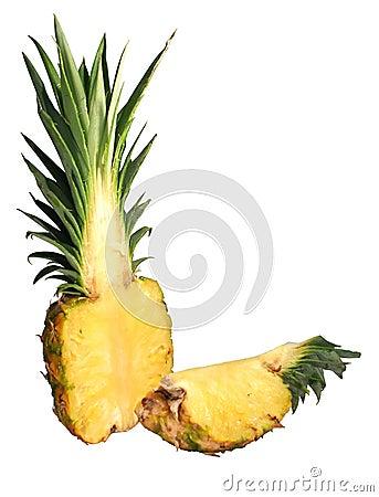 Free Cut Pineapple Royalty Free Stock Photos - 1037018