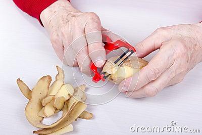 Cut potato