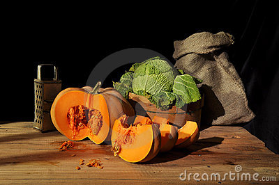 Cut pumpkin