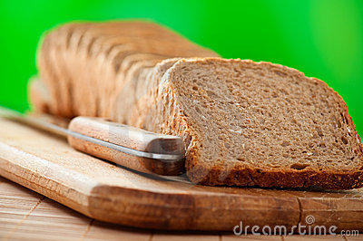 Cut rye bread