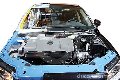 Cut section of car
