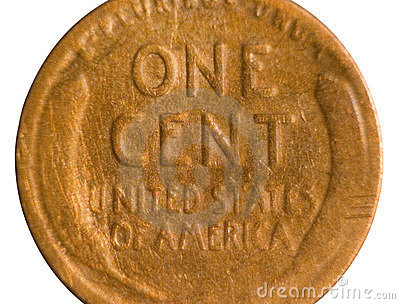 Cut Shot of Old Penny