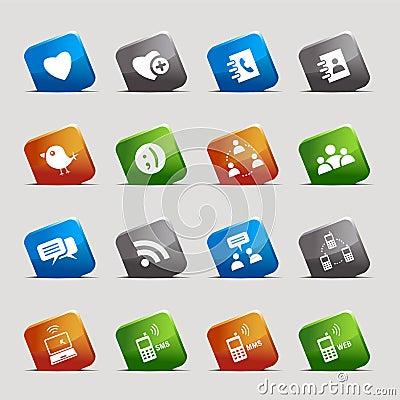Cut Squares - Social media icons
