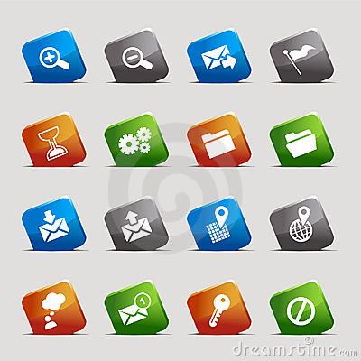 Free Cut Squares - Website And Internet Icons Royalty Free Stock Images - 23192469