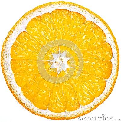 Free Cut Through Orange Royalty Free Stock Photography - 10910317