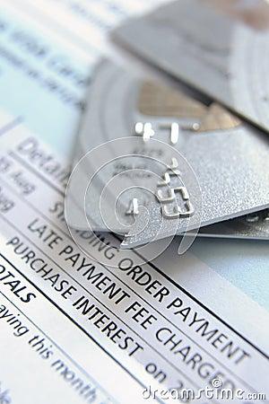 Free Cut Up Credit Card Stock Photos - 8550263