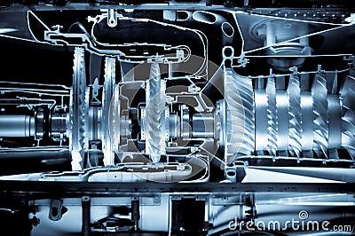 Cutaway do motor de jato