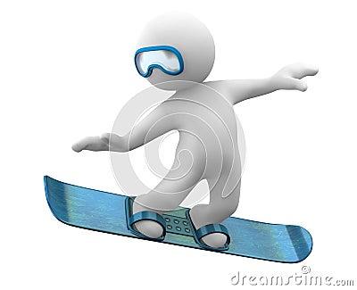 Cute 3d snowboard