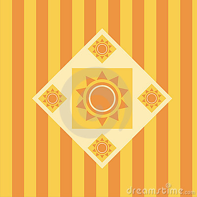 Cute abstract sun background