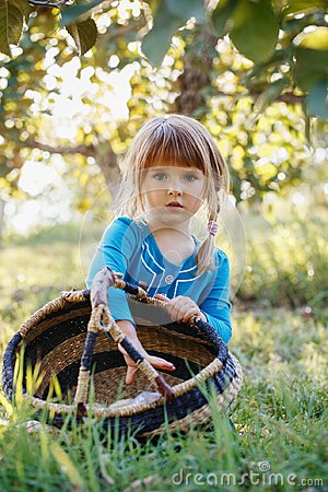 Free Cute Adorable Little Red-haired Caucasian Girl Child With Blue Eyes Picking Apples In Garden On Farm Royalty Free Stock Photos - 101898798
