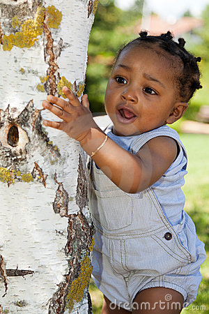 Cute african american baby boy