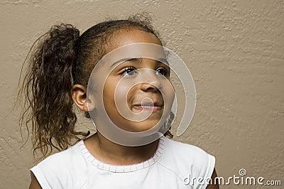 Cute african american child