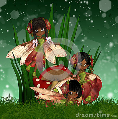Cute African American Fairies