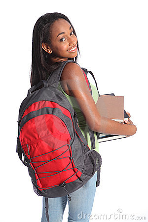 Free Cute African American High School Student Girl Royalty Free Stock Images - 20871009