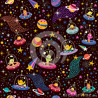 Free Cute Aliens Pattern Stock Photos - 29718483