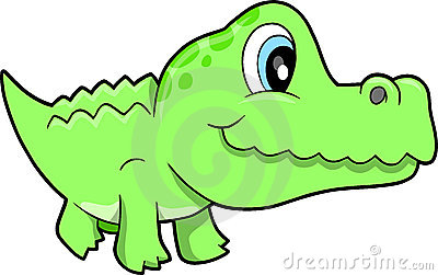 Cute Alligator Vector Illustration