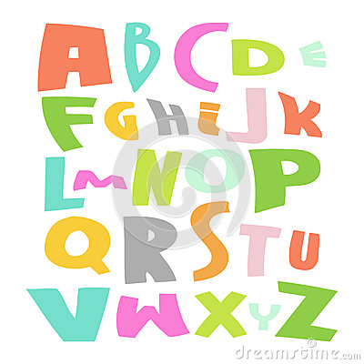 Cute Alphabet Vector Set illustration