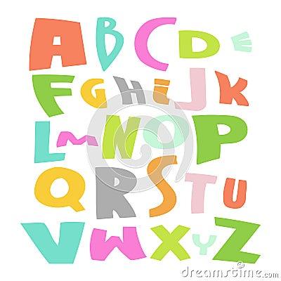 Cute Alphabet Vector Set illustration