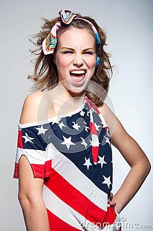 Cute American girl