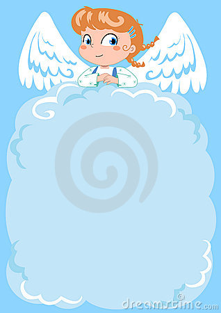 Free Cute Angel Empty Letter Royalty Free Stock Photo - 1310295