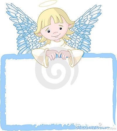 Cute Angel Invite & Place Card