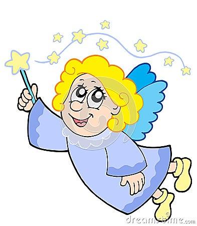 Cute angel with wand
