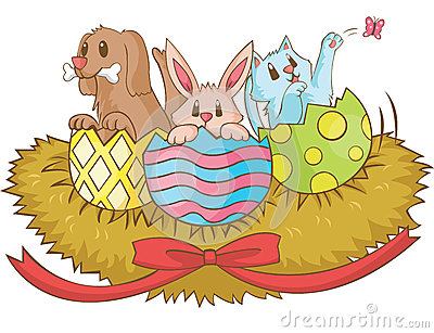 Easter animal cartoon, cerate by vector
