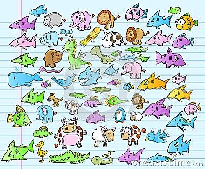 Cute Animal Safari Ocean Summer Set