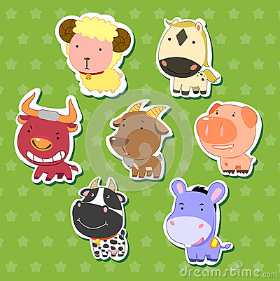 Cute animal stickers 08