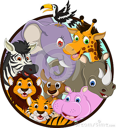 Cute animal wildlife cartoon