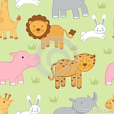 Cute animals background