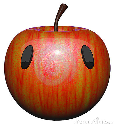 Cute Apple with Eyes