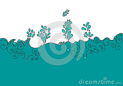Cute aqua background